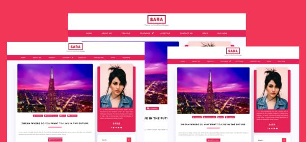 Sara Log Grid WordPress Theme